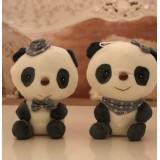 wholesale - Cute & Novel Lover Pandas Plush Toys Set 2Pcs 18*12cm