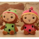 Wholesale - Monkey Plush Toys Stuffed Animals Set 4Pcs 18cm/7Inch Tall