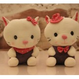 Wholesale - Lover Cats Plush Toys Stuffed Animals Set 2Pcs 18cm/7Inch Tall