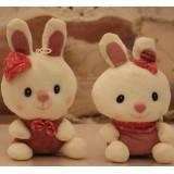 Wholesale - Lover Rabbits Plush Toys Stuffed Animals Set 2Pcs 18cm/7Inch Tall
