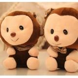 Wholesale - Lover Monkeys Plush Toys Stuffed Animals Set 2Pcs 18cm/7Inch Tall