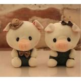 Wholesale - Lover Pigs Plush Toys Stuffed Animals Set 2Pcs 18cm/7Inch Tall