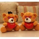 wholesale - Cute & Novel Bear Plush Toys Set 2Pcs 18*12cm