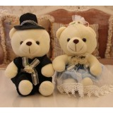 wholesale - Cute & Novel Teddy Bear Plush Toys Set 2Pcs 20*13CM