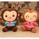 Wholesale - Monkey Plush Toys Stuffed Animals Set 2Pcs 18cm/7Inch Tall