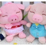 Wholesale - Wedding Pig Plush Toys Stuffed Animals Set 2Pcs 18cm/7Inch Tall