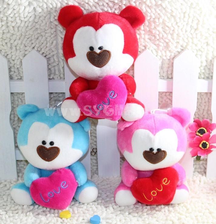 Lovely Couple Bear Plush Toys Set 2Pcs 18*12cm
