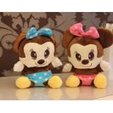 Wholesale - Mickey Plush Toys Stuffed Animals Set 2Pcs 18cm/7Inch Tall