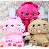 Wholesale - Tipsy Cat Plush Toys Stuffed Animals Set 2Pcs 18cm/7Inch Tall
