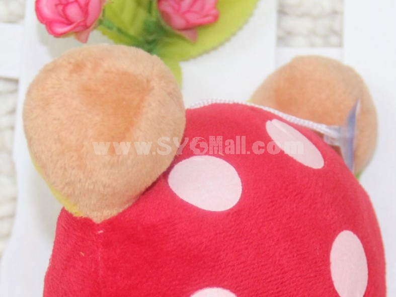 Lovely Dots Bear Plush Toys Set 2Pcs 18*12cm