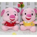 Wholesale - Pig Plush Toys Stuffed Animals Set 2Pcs 18cm/7Inch Tall
