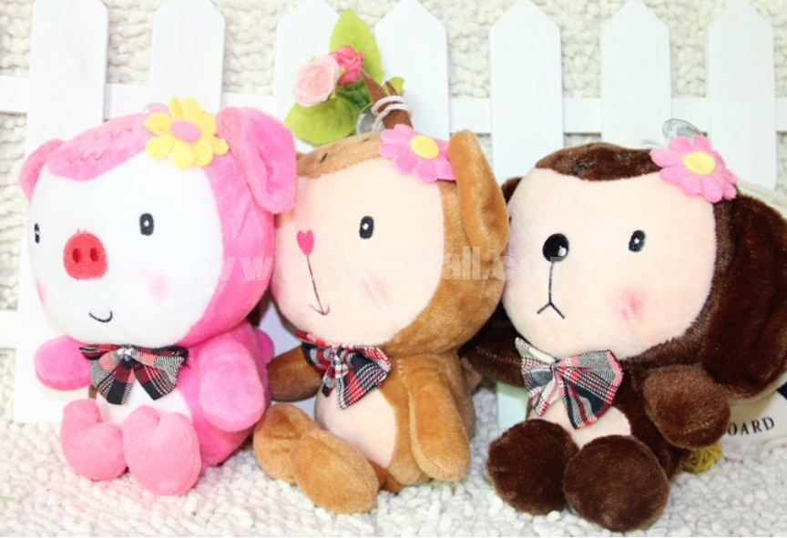 Lovely Couple Monkey Plush Toys Set 2Pcs 18*12cm