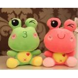 Wholesale - Frog Plush Toys Stuffed Animals Set 2Pcs 18cm/7Inch Tall