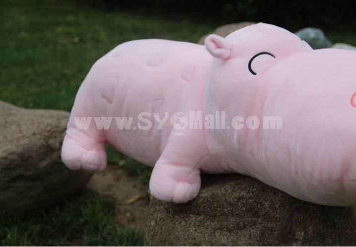 Cute Hippo Plush Toy Set 2PCs 70*30CM