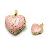 Wholesale - Pink Rhinestone Loving Heart Shape 8G USB