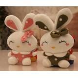 Wholesale - Cute & Novel Rabbit 12s Voice Recording Plush Toy 18*13cm 2PCs