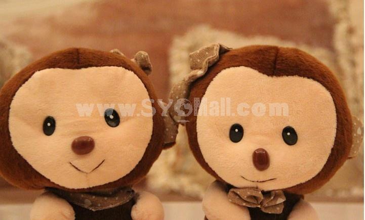 Lovely Monkey 12s Record Function Plush Toy 18*13cm 2PCs