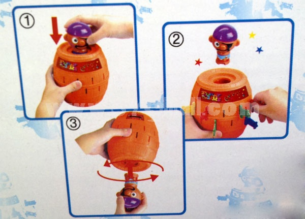 Popping-up Pirates Doll Toy Piggy Bank Money Box Large Size