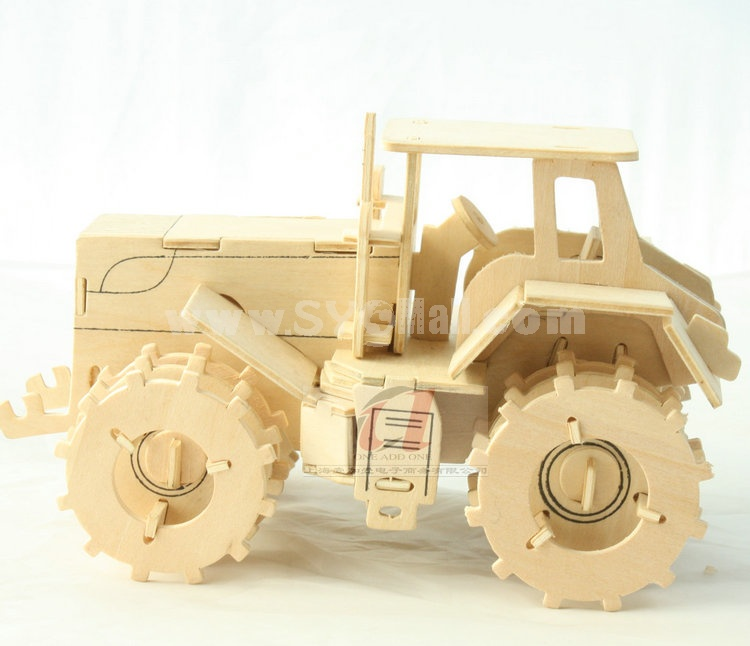 Creative DIY 3D Wooden Jigsaw Puzzle Model - Tractor