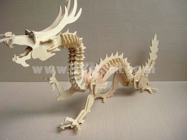 Creative DIY 3D Wooden Jigsaw Puzzle Model - Chinese Dragon