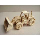 Wholesale - Cute & Novel DIY 3D Wooden Jigsaw Puzzle Model - Bulldozer