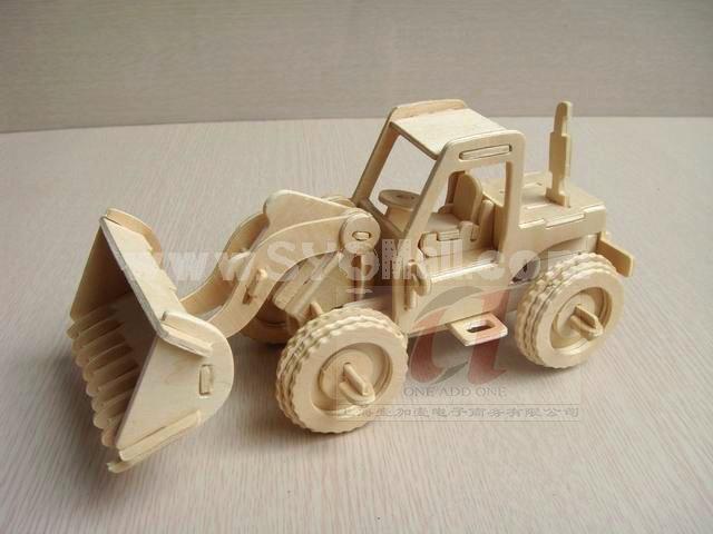 Creative DIY 3D Wooden Jigsaw Puzzle Model - Bulldozer