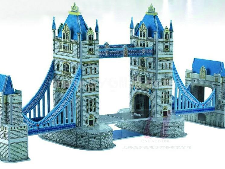 Creative DIY 3D Jigsaw Puzzle Model - Twin Bridge
