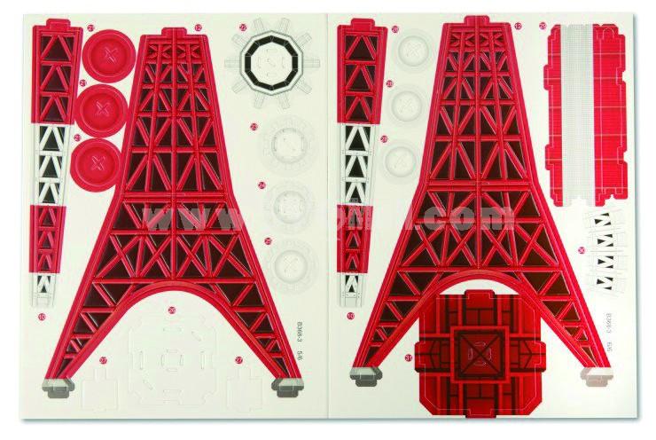 Creative DIY 3D Jigsaw Puzzle Model - Tokyo Tower