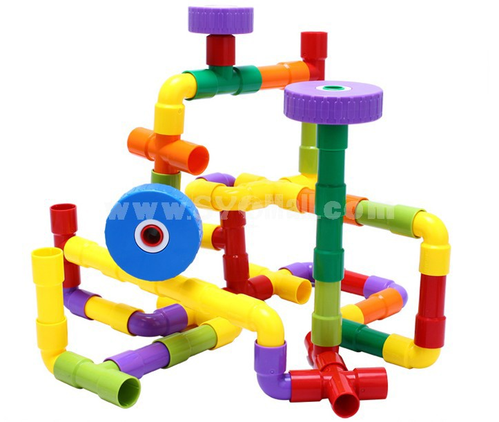 108 pcs Plastic Tubes Toy Educational Toy Children's Gift