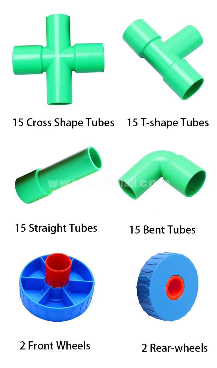 64 pcs Plastic Tubes Inserting Toy Educational Toy Children's Gift