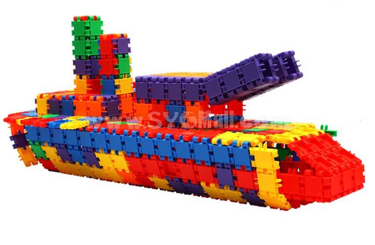 180 pcs Quadratic Plastic Inserting Toy Educational Toy Children's Gift