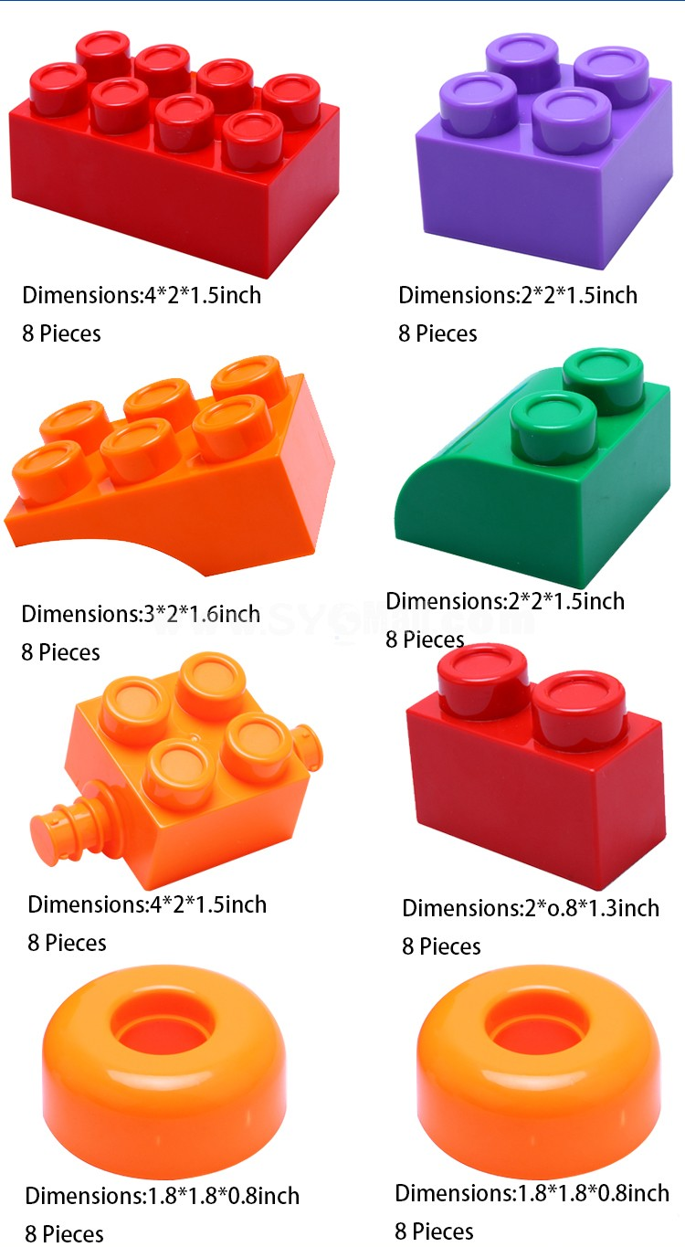 72 pcs Block Inserting Toy Educational Toy Children's Gift