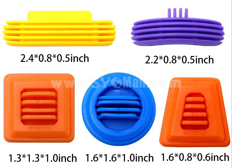 100 pcs Plastic Building Block Inserting Toy Educational Toy Children's Gift