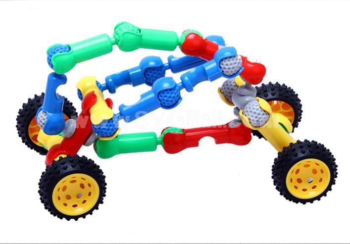 140 pcs Skeleton Shape Plastic Inserting Toy Educational Toy Children's Gift