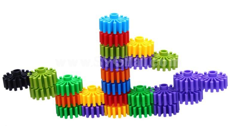 70 pcs Gearwheel Shape Inserting Building Block Educational Toy Children's Gift
