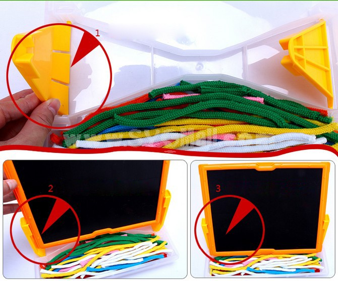 Creative Magnetic DIY Drawing Board with Magic Ropes Educational Toy Children's Gift
