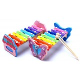 Wholesale - Butterfly/Cabin Kids Piano Wooden Serinette Xylophone