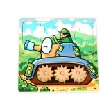 Wholesale - Sunflower/Tank Wooden Puzzle  Jigsaw  with Gears