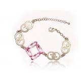 Wholesale - Stylish Electroplating Alloy Rhinestone Bracelet 8021-4