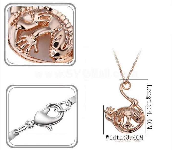Stylish Rhinestone Pattern Necklace 2027-4