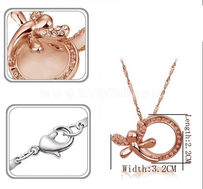 Stylish Rhinestone Pattern Necklace 2035-1