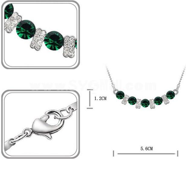 Stylish Rhinestone Pattern Necklace 2041-6