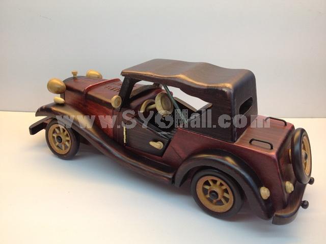 Handmade Wooden Decorative Home Accessory Vintage Car Model