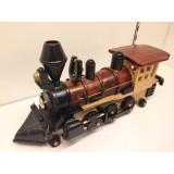 Wholesale - Handmade Wooden Home Decorative Novel Vintage Steam Train Engine Model