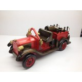 Wholesale - Handmade Wooden Home Decorative Novel Vintage Fire Truck Model