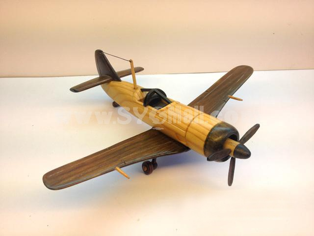 "Handmade Wooden Decorative Home Accessory Japanese ""Zero"" Fighter Model"