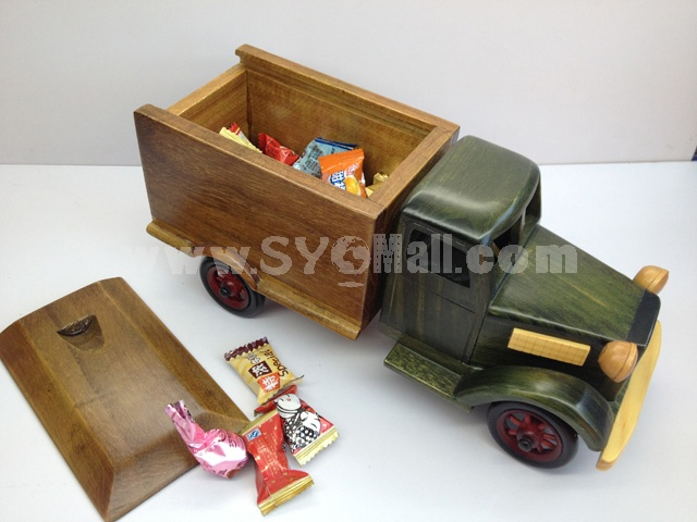 Handmade Wooden Decorative Home Accessory Cover Truck Model