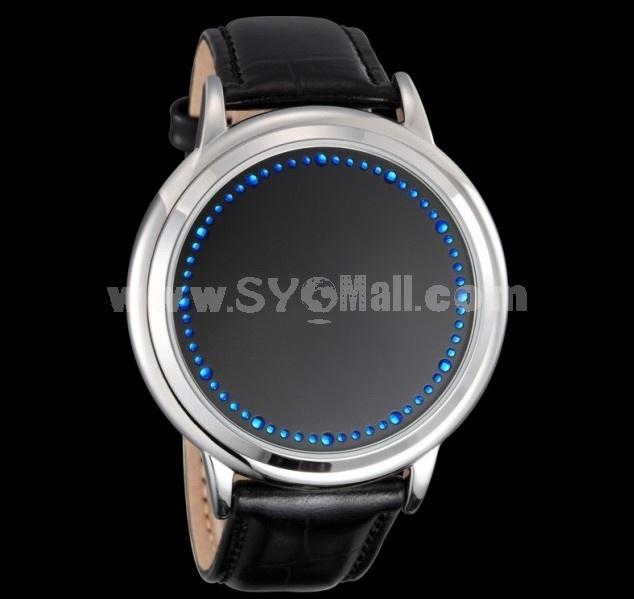 Fashion Elegant Design Blue Hybrid Touch Screen LED Watch