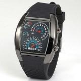 Wholesale - Fashion Silicone Rubber Band Blue Binary DOT Unisex LED Wrist Watch