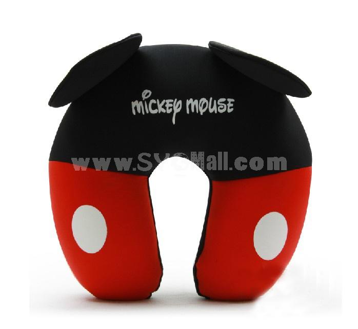 Comfort Foam Particles U Neck Travel Pillow Cute Cartoon Pattern - Mickey Mouse